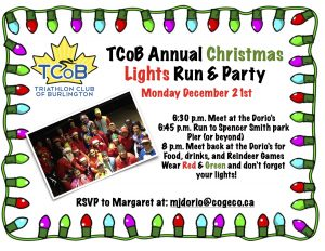 TCoB Annual Christmas Lights Run & Party Monday December 21st